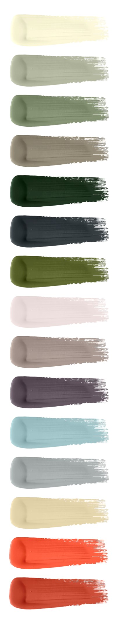 Alitex Collection colour swatches by M&L Paints