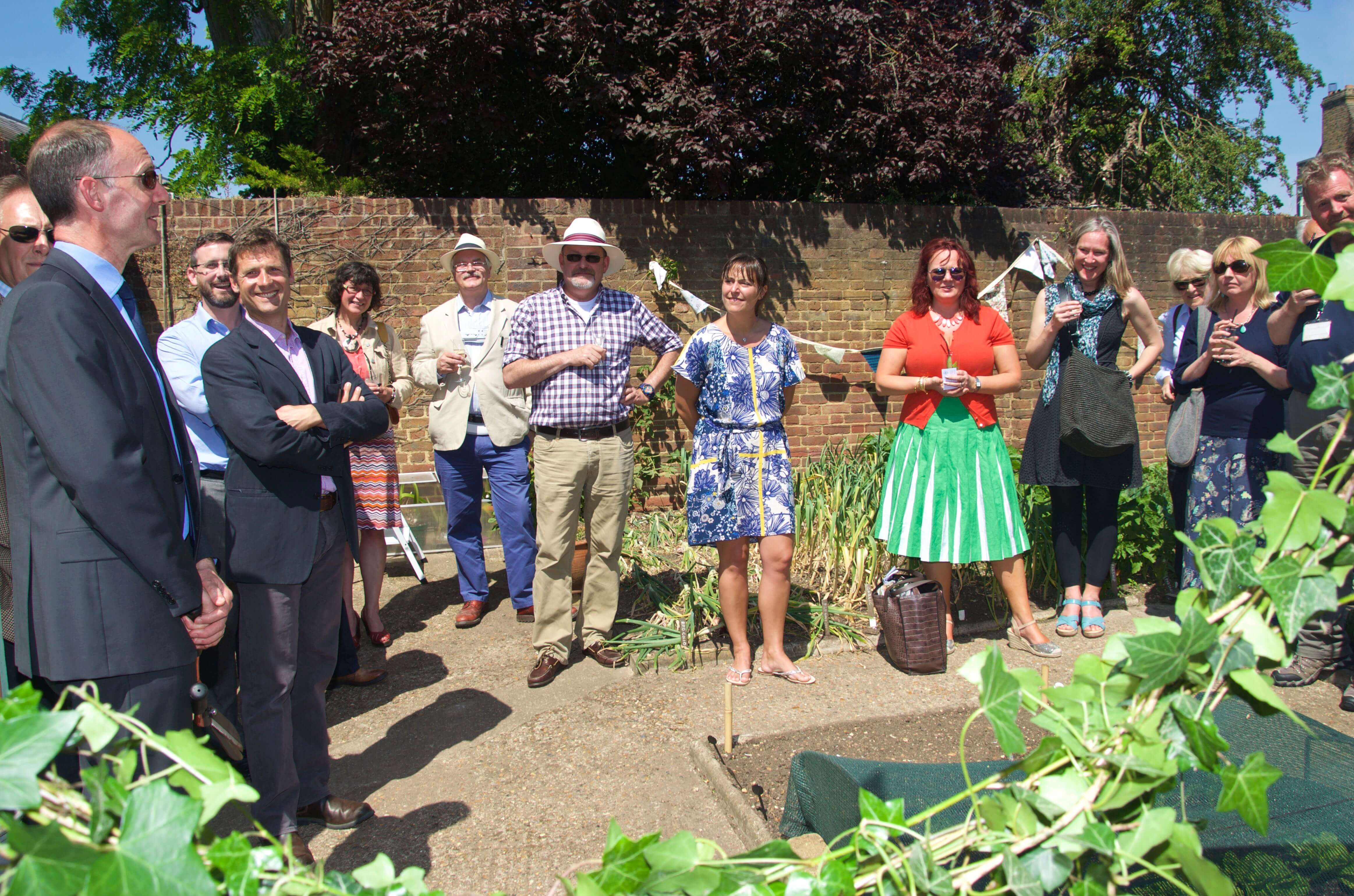 Opening ceremony of directors greenhouse at Kew Gardens