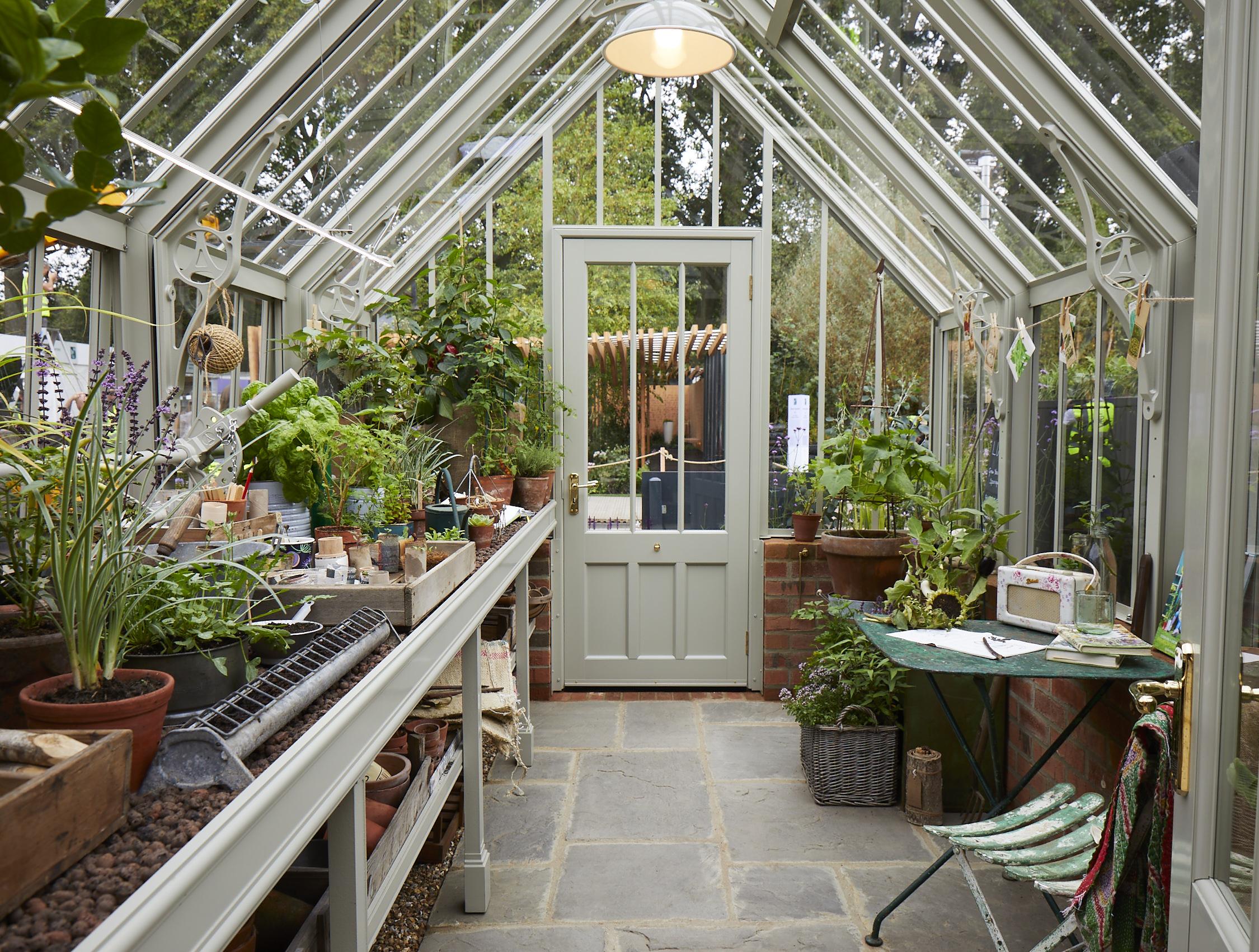 sustainable gardening in scotney greenhouse