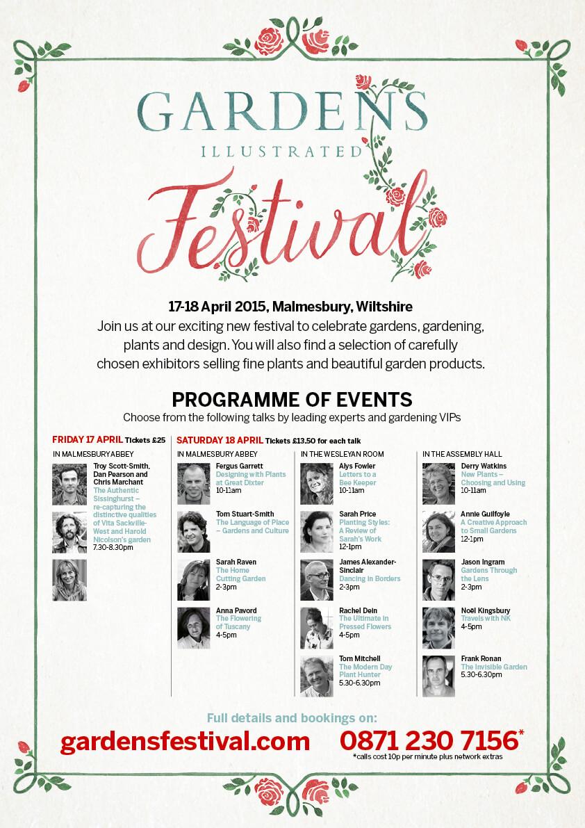 Gardens Illustrated Festival 2015 in Malmesbury, WIltshire