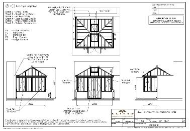 Ground plan drawing