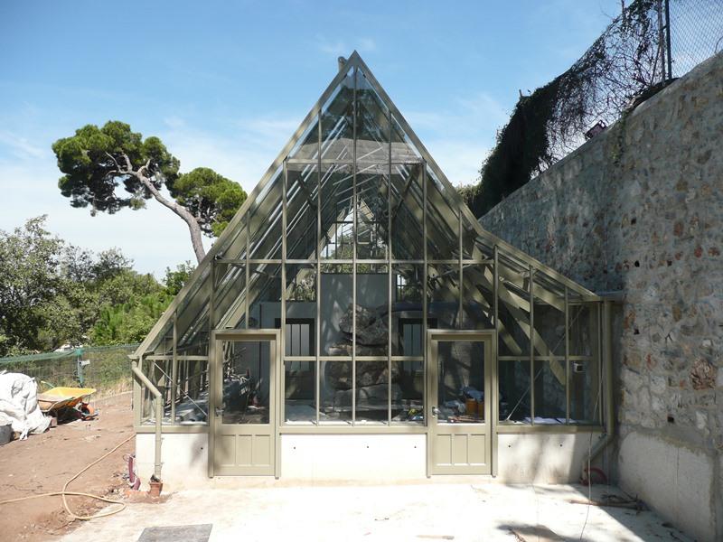 3/4 span greenhouse in Gibraltar Botanic Gardens