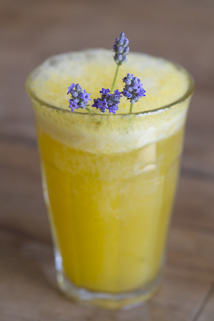 Nectarine, Lavender and Lemon Thyme Bellini