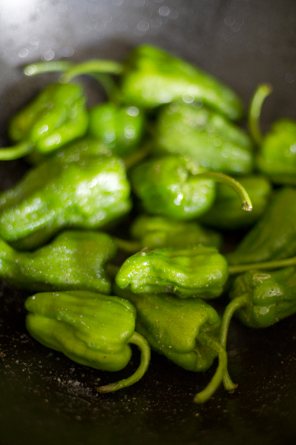 Salt and Pepper Padron Peppers