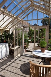 Bespoke 3/4 span traditional greenhouse