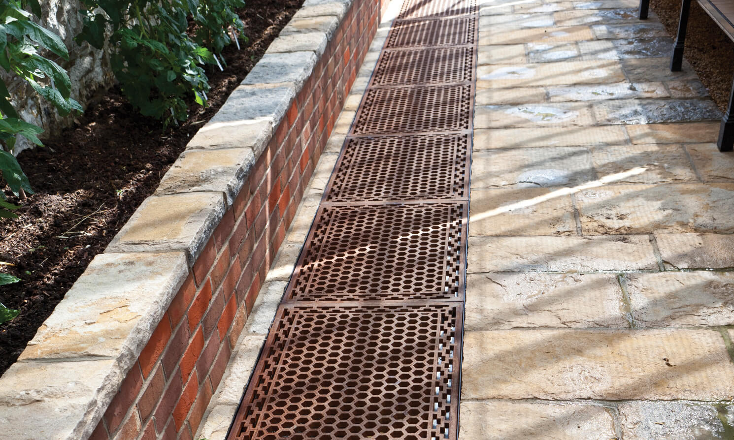 Decorative Cast Victorian floor grids in Alitex aluminium greenhouse