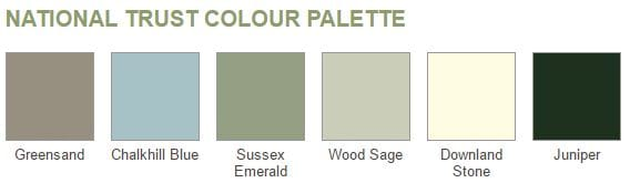 National Trust colour palette