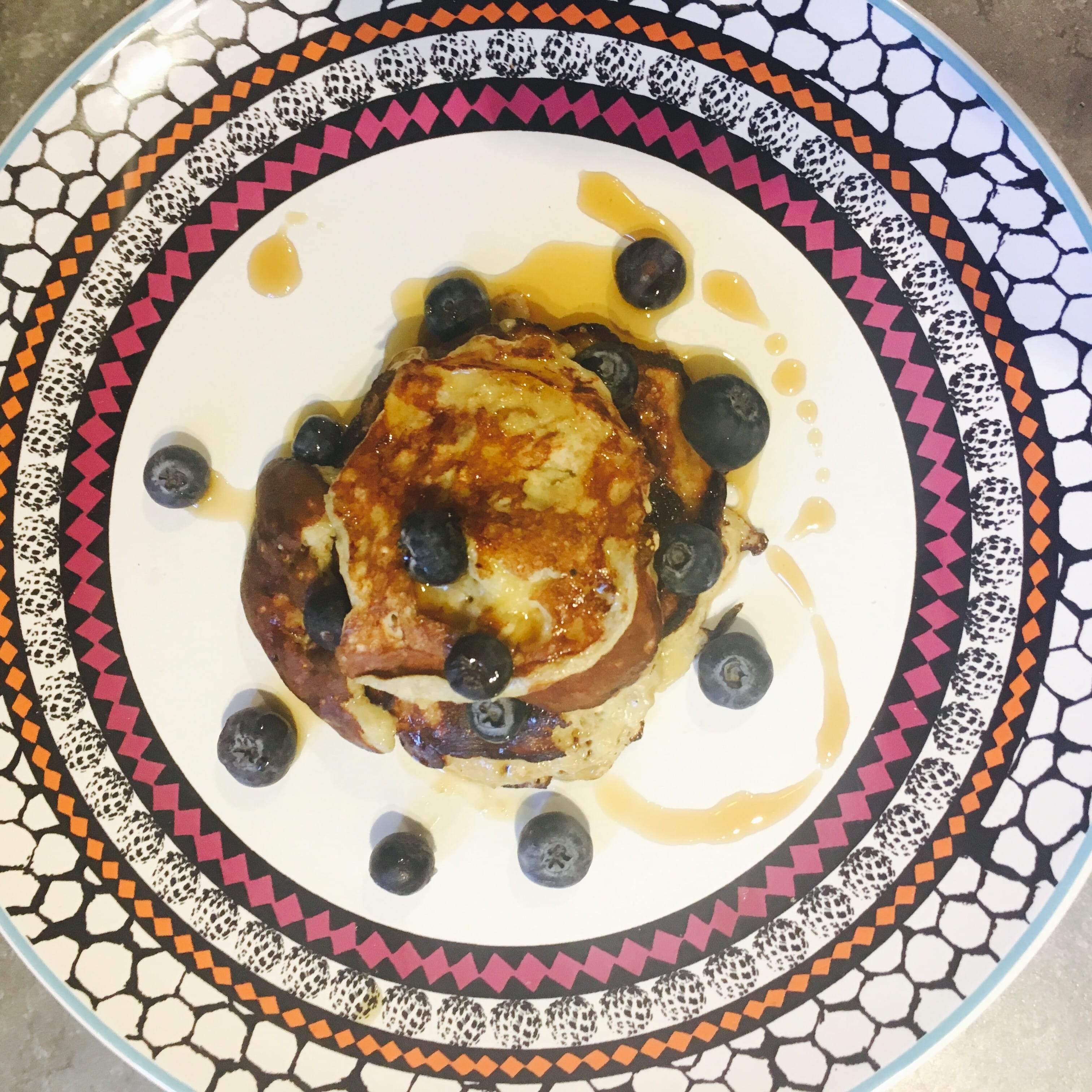 Gluten and dairy free Pancakes with Blueberries