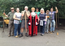 The Alitex team volunteering at Royal Botanic Gardens Kew