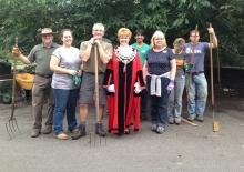 The Alitex team volunteering at Royal Botanic Gardens Kew