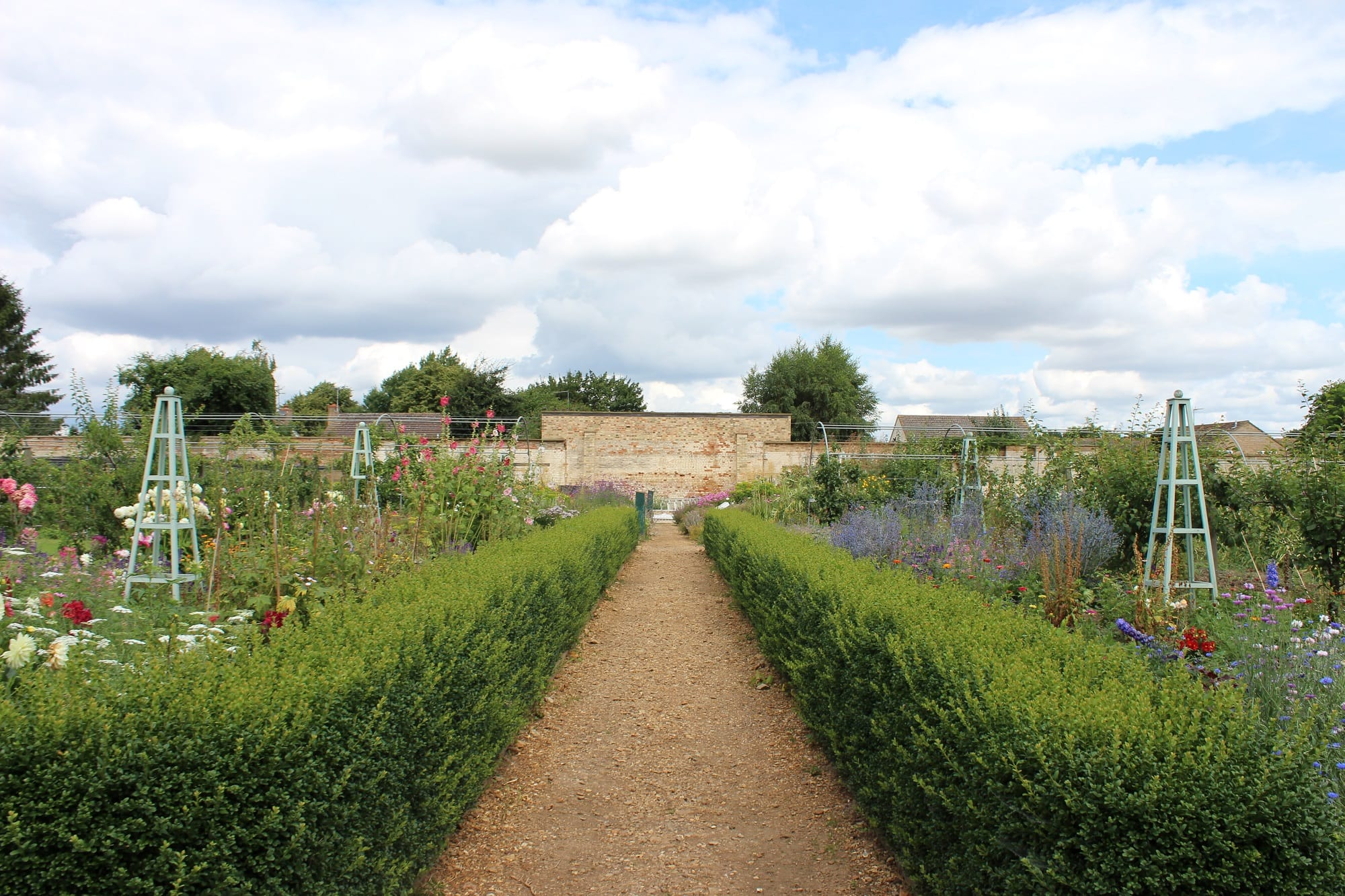 Walled Kitchen Gardens A New Greenhouse For Ramsey Abbey Walled Kitchen Garden Alitex