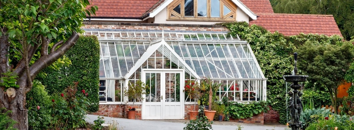 A beautiful garden for replacement lean-to greenhouse