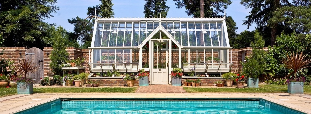 Bespoke Greenhouse doubled as a Pool House