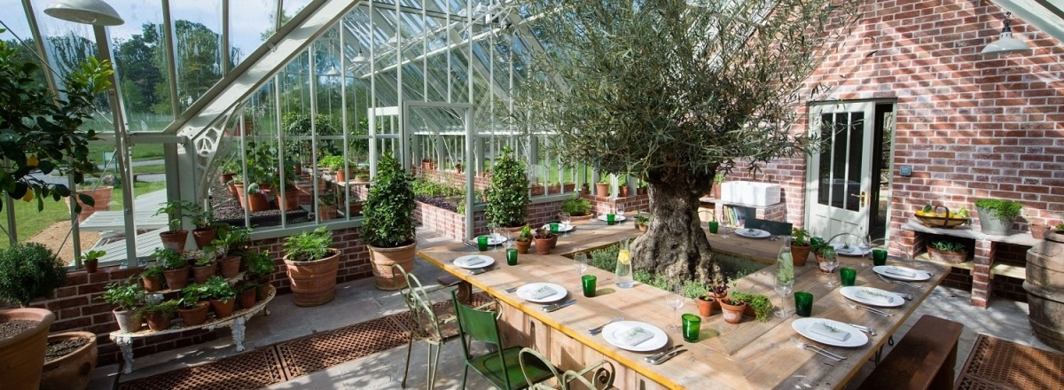 Inside The Greenhouse At Lime Wood