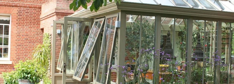 Aluminium conservatory replacement on Georgian farm house