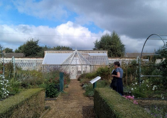The new greenhouse in place at Ramsey Abbey