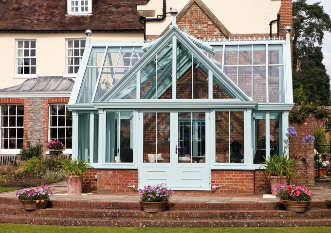 Unusual Alitex cruciform conservatory