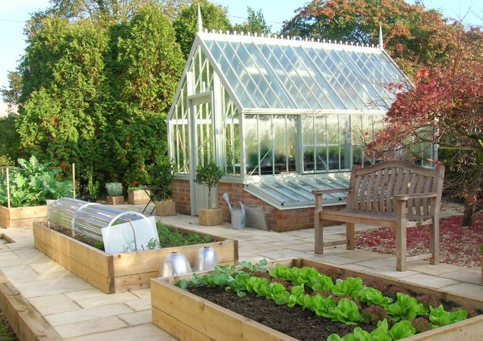 National Trust Scotney in Wood Sage with Cold Frames