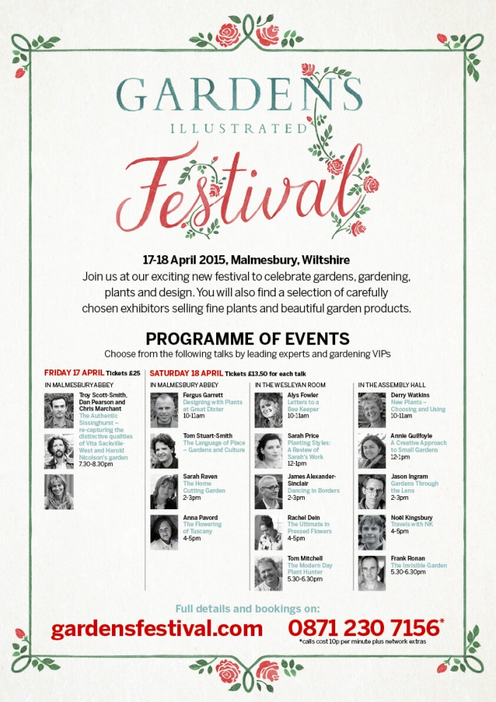Gardens Illustrated Festival 2015 in Malmesbury, WIltshire