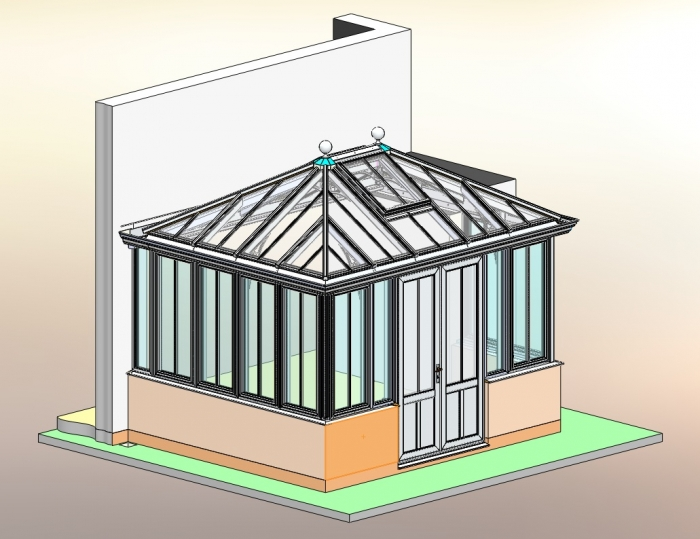 Overall Model View for bespoke conservatory