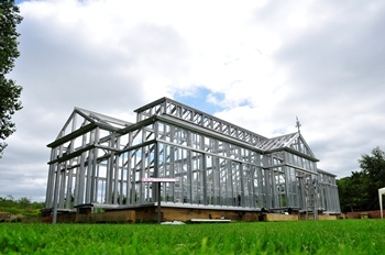 Large scale project, freestanding greenhouse in New Jersey, America