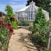 Bespoke freestanding hexagonal greenhouse in white