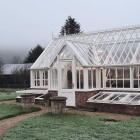 Wintry greenhouse