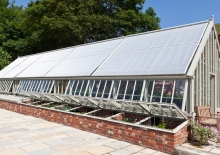 Greenhouse shades and cold frames on Alitex aluminium greenhouse