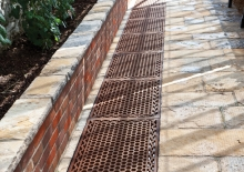 Decorative Cast Victorian floor grids in Alitex aluminium greenhouse